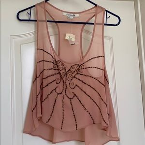 Forever 21 racerback crop tank (NWT)